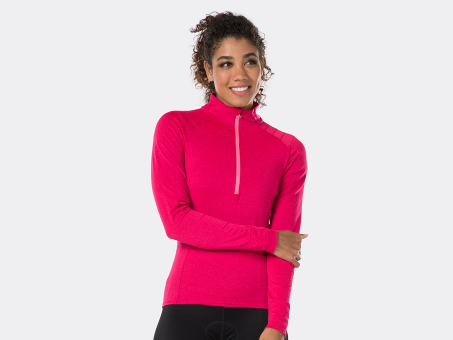 Bontrager Trikot Vella Thermal Long Sleeve S Vice Pink
